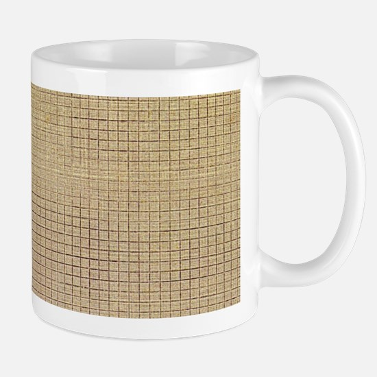 Faded Burlap Mugs