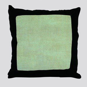 Faded Green Tweed Throw Pillow