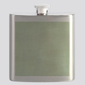 Faded Green Tweed Flask