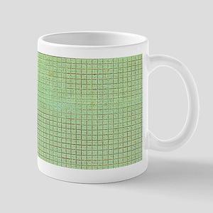 Faded Green Tweed Mugs