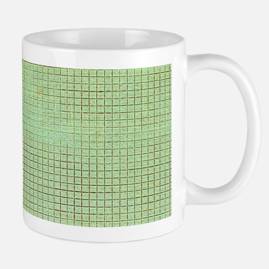 Faded Green Tweed Mugs
