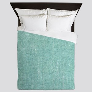 Faded Blue Canvas Queen Duvet