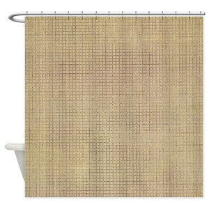 Burlap Shower Curtains