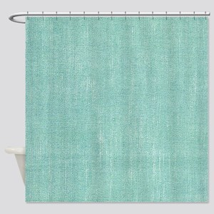 Faded Blue Canvas Shower Curtain