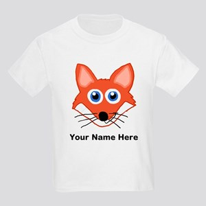 Customizable Fox Design Kids Light T-Shirt