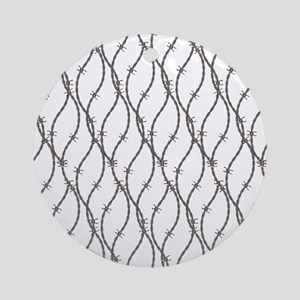 Bloody Barbed Wire Ornament (Round)