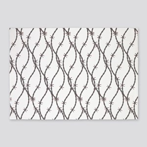 Bloody Barbed Wire 5'x7'Area Rug