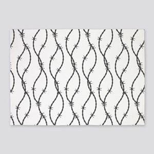 Barbed Wire 5'x7'Area Rug
