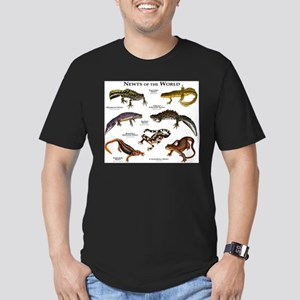 Newts of the World Men's Fitted T-Shirt (dark)
