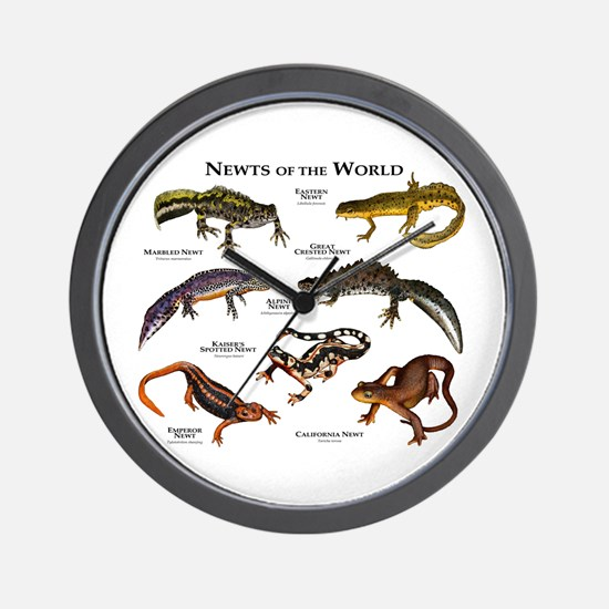 Newts of the World Wall Clock