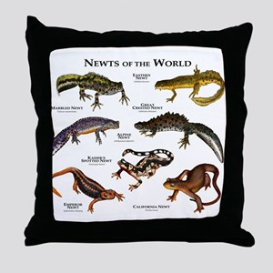 Newts of the World Throw Pillow