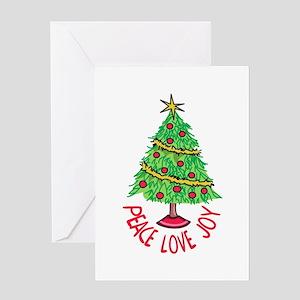 PEACE LOVE JOY Greeting Cards