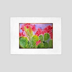 Cactus! Southwest art! 5'x7'Area Rug