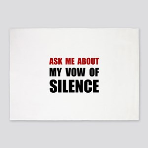 Vow Of Silence 5'x7'Area Rug