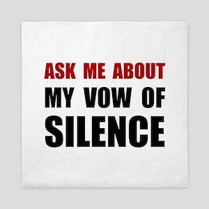 Vow Of Silence Queen Duvet