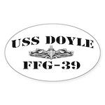 USS DOYLE Sticker (Oval)