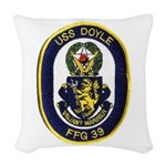 USS DOYLE Woven Throw Pillow