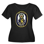 USS DOYL Women's Plus Size Scoop Neck Dark T-Shirt