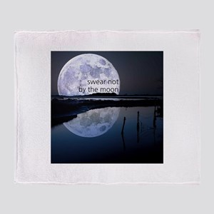 Swear Not By The Moon Throw Blanket