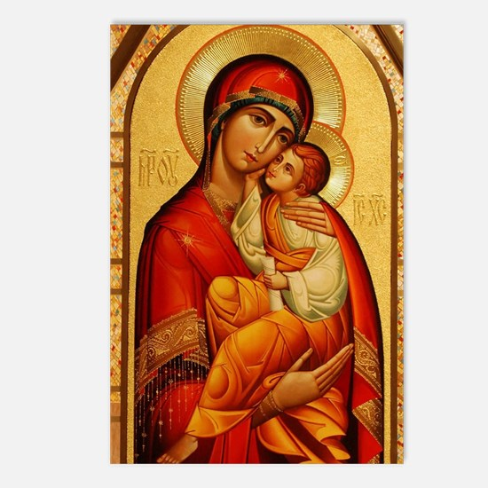 Mary The God Bearer Postcards (Package of 8)