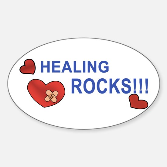 Healing Rocks!!! Sticker (Oval)