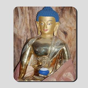Blue haired buddha Mousepad