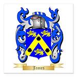 James Square Car Magnet 3