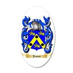 James 35x21 Oval Wall Decal