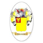 Jakubovits Sticker (Oval 50 pk)