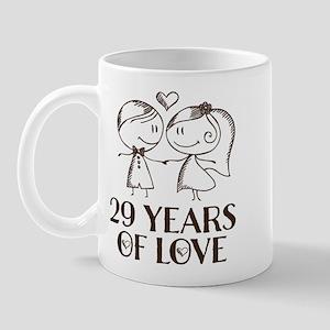 29th Anniversary chalk couple Mug