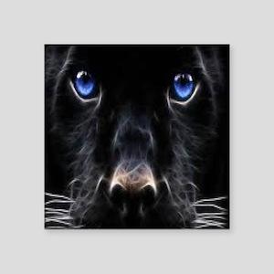 "Black panther Square Sticker 3"" x 3"""