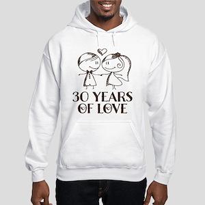30th Anniversary chalk couple Hooded Sweatshirt