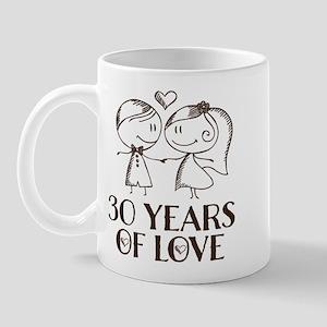 30th Anniversary chalk couple Mug