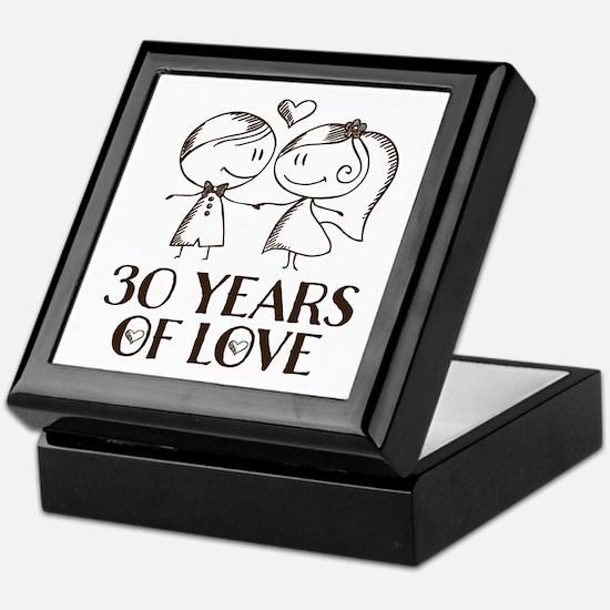 30th Anniversary chalk couple Keepsake Box