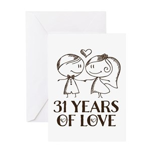 31st Anniversary Greeting Cards Cafepress