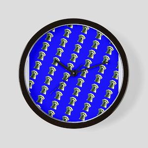 Cute Blue Labrador Retriever Dog Design Wall Clock