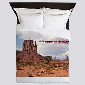Monument Valley, Utah, USA 2 (caption) Queen Duvet