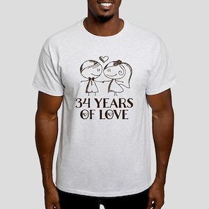 34th Anniversary chalk couple Light T-Shirt