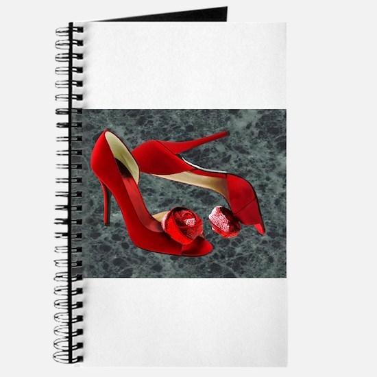 Rock Me Red Pom Poms Journal