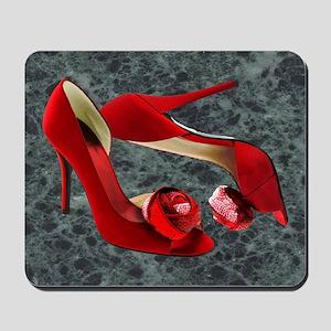 Rock Me Red Pom Poms Mousepad