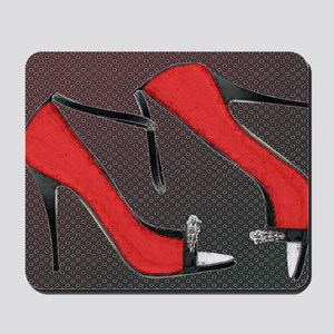 Raging Red Open Toed Stilettos Mousepad