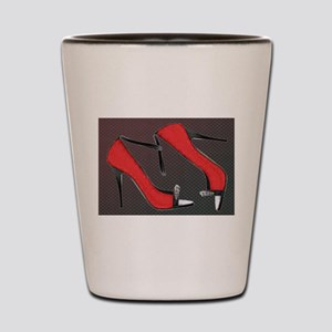 Raging Red Open Toed Stilettos Shot Glass