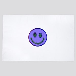 Marijuana Happy Face 4' x 6' Rug