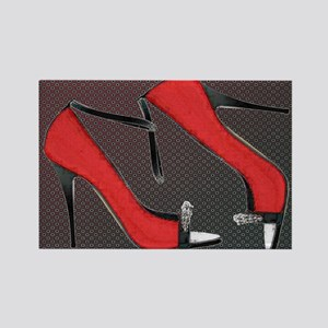 Raging Red Open Toed Stilettos Magnets