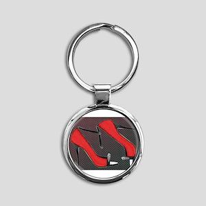 Raging Red Open Toed Stilettos Keychains
