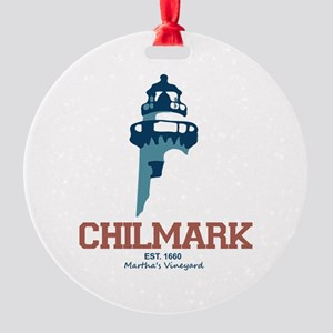 Chilmark - Caped Cod. Round Ornament