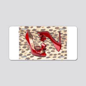 Little Red Bow Peep Aluminum License Plate
