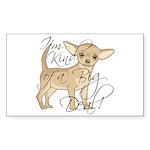 Chihuahua I'm Kind of a Sticker (Rectangle 10 pk)