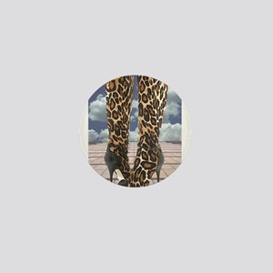 Leopard Boots with Ankle Straps Mini Button
