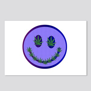 Marijuana Happy Face Postcards (Package of 8)